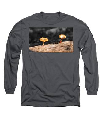Mushrooms On A Branch Long Sleeve T-Shirt