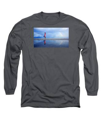 Mysterious Rainbow Girl Long Sleeve T-Shirt