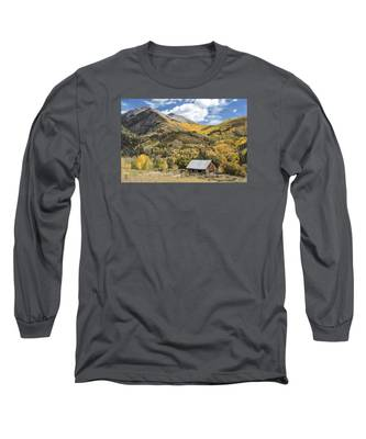Old Shack And Equipment Long Sleeve T-Shirt