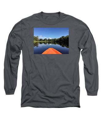 Orange Kayak  Long Sleeve T-Shirt
