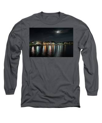 Pewaukee At Night Long Sleeve T-Shirt