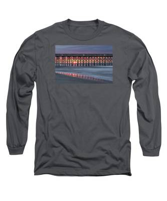 Pier With Sunrise Long Sleeve T-Shirt