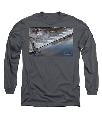 Pompton Spillway From Above Long Sleeve T-Shirt