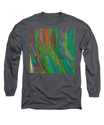 Long Sleeve T-Shirt featuring the painting Psychorivers by Vicki Winchester