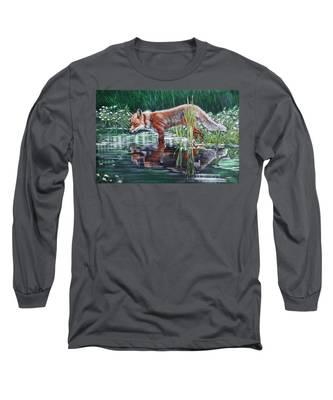 Red Fox Reflecting Long Sleeve T-Shirt
