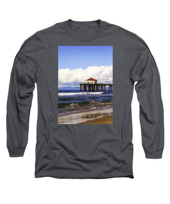 Reflections On The Pier Long Sleeve T-Shirt