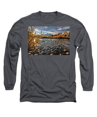 River In The Tetons Long Sleeve T-Shirt