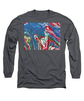 Long Sleeve T-Shirt featuring the painting Running Fire by Vicki Winchester
