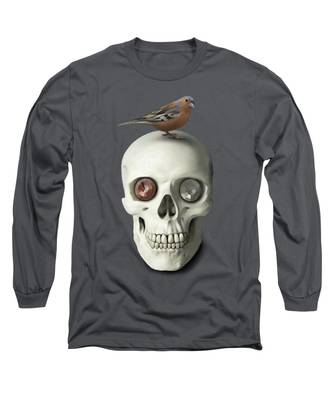 Skull And Bird Long Sleeve T-Shirt