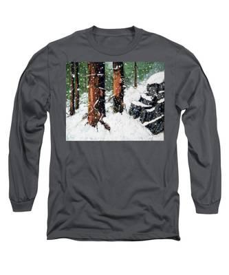 Snowy Redwood Dream Long Sleeve T-Shirt