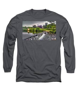 Spillway At Grace Lord Park, Boonton Nj Long Sleeve T-Shirt