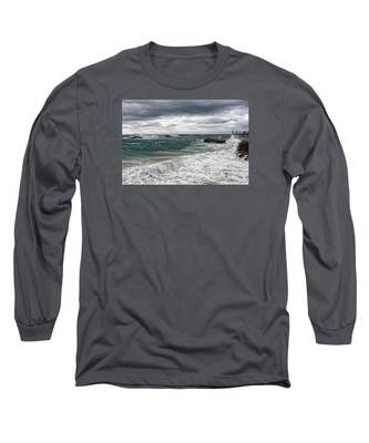 Stormy Day On Redondo Long Sleeve T-Shirt
