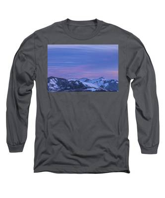 Striped Sky At Day's End Long Sleeve T-Shirt