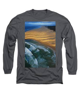 Long Sleeve T-Shirt featuring the photograph Sun Rise Coast  by Skip Hunt