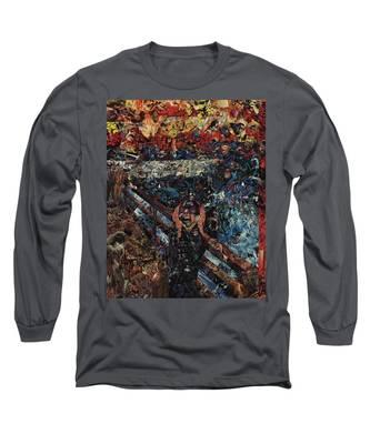 The Scream After Edvard Munch Long Sleeve T-Shirt