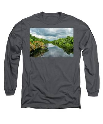 Cloudy Skies Over The River Long Sleeve T-Shirt