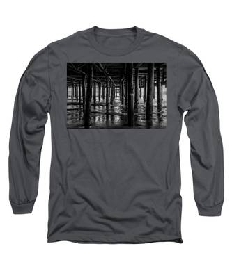 Under The Pier - Black And White Long Sleeve T-Shirt