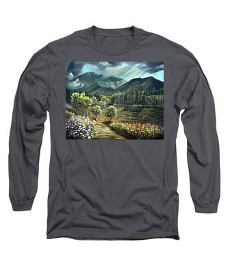 Vista View Of Cannon Mountain Long Sleeve T-Shirt