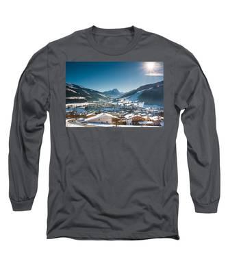 Warm Winter Day In Kirchberg Town Of Austria Long Sleeve T-Shirt
