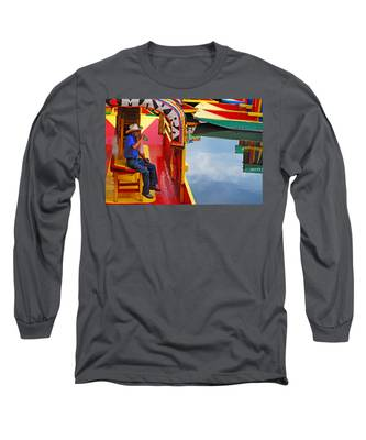 Long Sleeve T-Shirt featuring the photograph Xochimilco by Skip Hunt