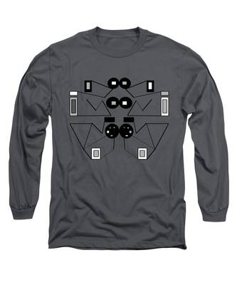 Abstract Geometric Retro 1 Long Sleeve T-Shirt
