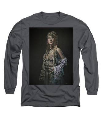 Gypsy Portrait Long Sleeve T-Shirt