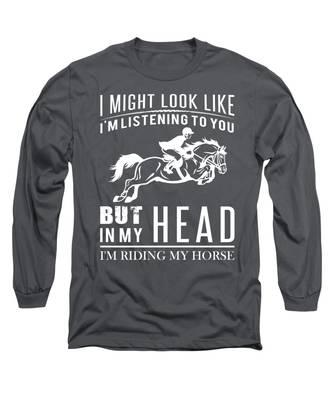 Horse Head Long Sleeve T-Shirts