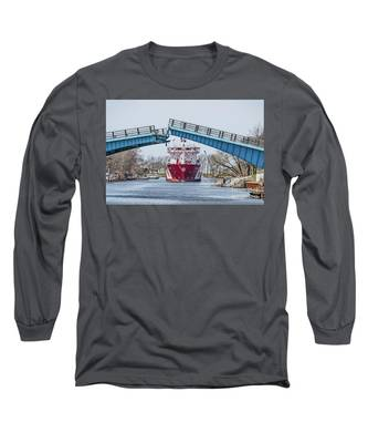 Iver Bright Tanker Visits Manistee Long Sleeve T-Shirt