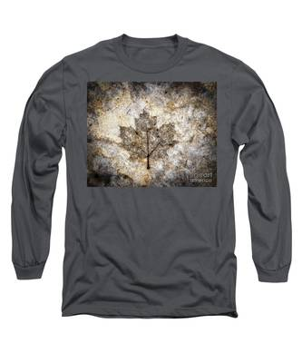 Leaf Imprint Long Sleeve T-Shirt