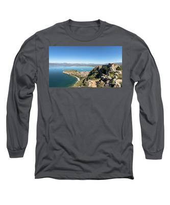Palamidi Fortress In Nafplio, Greece Long Sleeve T-Shirt by Didier Marti