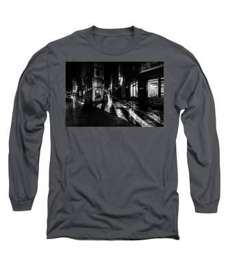 Paris At Night - Rue De Seine Long Sleeve T-Shirt