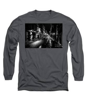 Paris At Night - Rue De Vernueuil Long Sleeve T-Shirt