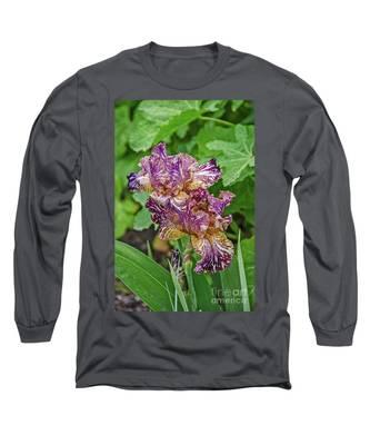 Stunning Variegated Iris Blossoms Long Sleeve T-Shirt