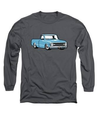 Pickup Blazer 70 Long Sleeve Teeshirt Chevy Truck T-Shirt C10 K10 1970