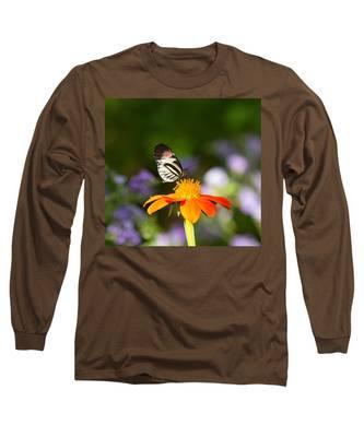 Piano Key Butterfly Long Sleeve T-Shirt