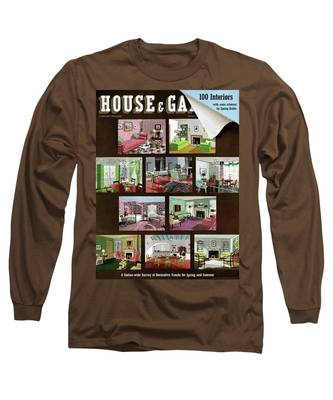 A House And Garden Cover Of Interior Design Long Sleeve T-Shirt