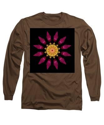 Beach Rose Iv Flower Mandala Long Sleeve T-Shirt