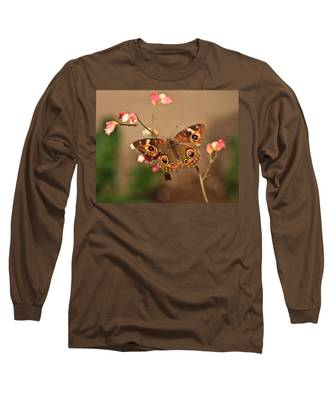 Butterfly On Pink Long Sleeve T-Shirt