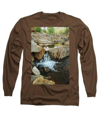 Cascading Downward Long Sleeve T-Shirt