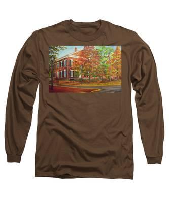 Dahlonega's Gold Museum In Autumn Long Sleeve T-Shirt