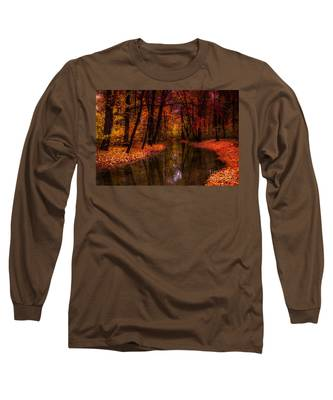 Flowing Through The Colors Of Fall Long Sleeve T-Shirt