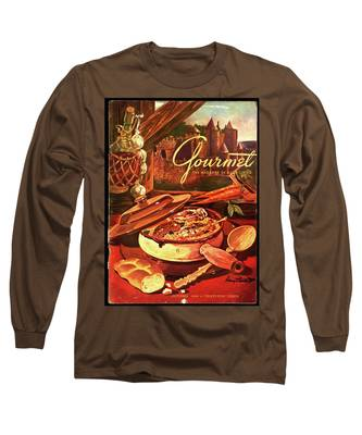 Gourmet Cover Featuring A Pot Of Stew Long Sleeve T-Shirt