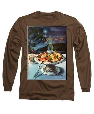 Gourmet Cover Illustration Of Fruit Dish Long Sleeve T-Shirt