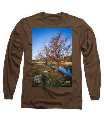 River And Winter Trees Long Sleeve T-Shirt