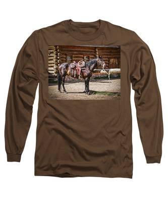 Saddled And Waiting Long Sleeve T-Shirt
