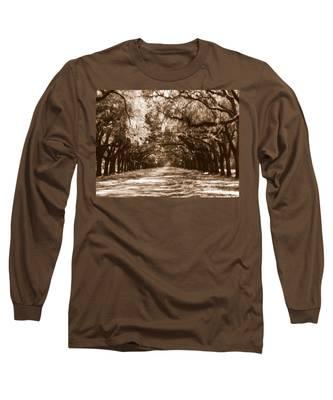 Savannah Sepia - The Old South Long Sleeve T-Shirt