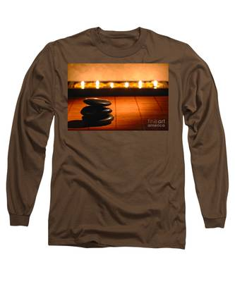 Stone Cairn And Candles For Quiet Meditation Long Sleeve T-Shirt