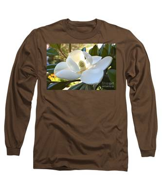 Sunlit Southern Magnolia Long Sleeve T-Shirt