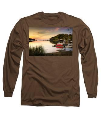 Sunset In Centerport Long Sleeve T-Shirt