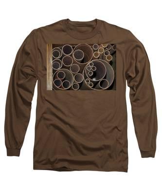 Round Sandpaper Long Sleeve T-Shirt